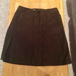 Everything Must Go! Brown velvet skirt from GAP